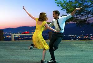 Emma Stone e Ryan Gosling em 'La la land' Foto: Dale Robinette / Divulgação