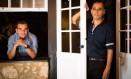 Últimos vencedores do Prêmio Sesc, os escritores José Mario Rodrigues (na janela) e Franklin Carvalho em Paraty, durante a Flip 2016 Foto: Bárbara Lopes / Agência O Globo