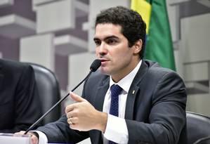 O deputado federal Newton Cardoso Júnior (PMDB-MG) em sessão na Câmara Foto: Zeca Ribeiro / Divulgação/Agência Câmara