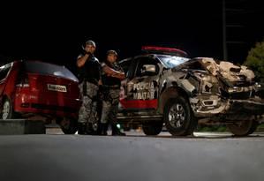 Policiais Militares reforçam segurança nas ruas de Manaus Foto: UESLEI MARCELINO / REUTERS