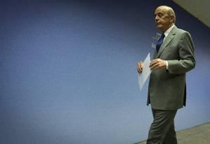 O ministro das Relações Exteriores, José Serra (PSDB) Foto: André Coelho/Agência O Globo/09-11-2016