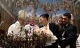 O Papa Francisco realizou cerimônia de batizado neste domingo, na Capela Sistina