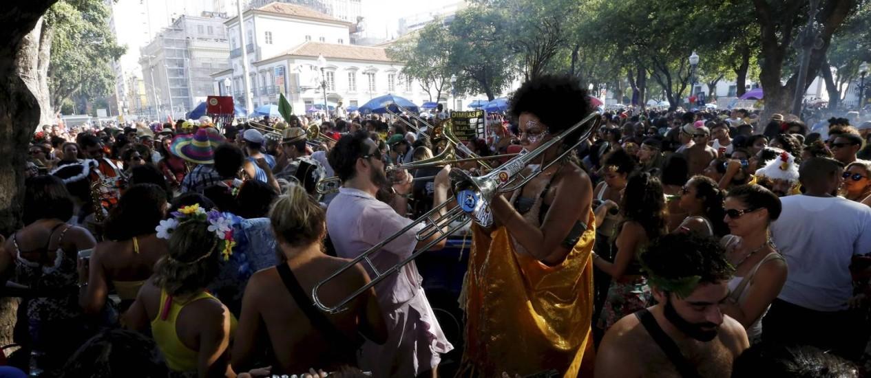 Abertura do carnaval não oficial do Rio de Janeiro Foto: Domingos Peixoto / Agência O Globo