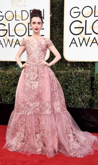A atriz Lily Collins Frazer Harrison / AFP