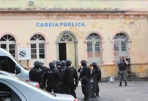 Cadeia Pública Raimundo Vidal Pessoa, no Centro de Manaus Foto: Sandro Pereira/Codigo19 / Agência O Globo