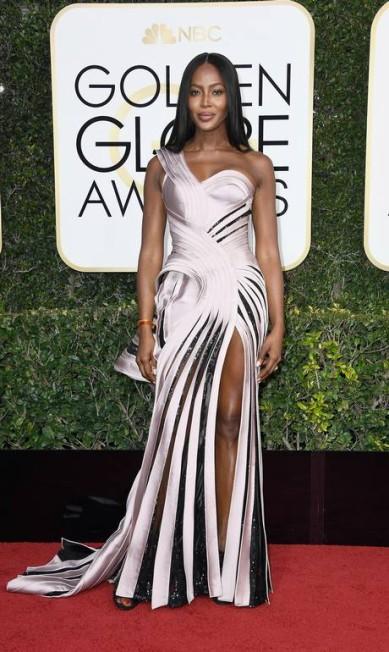 A top model Naomi Campbell, de Versace Frazer Harrison / AFP