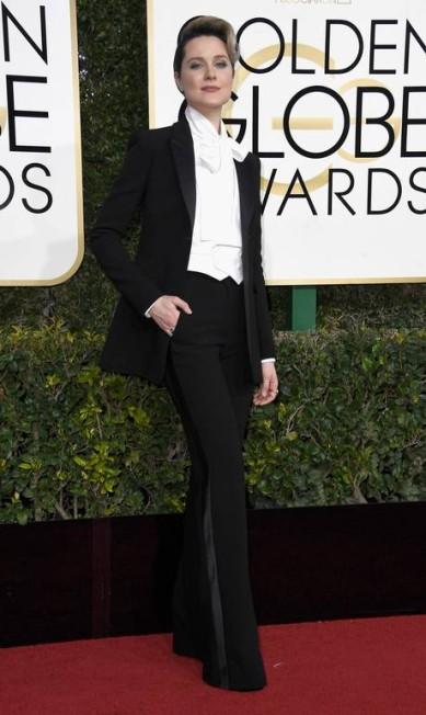 A atriz Evan Rachel Wood, de 'Westworld', de Altuzarra Frazer Harrison / AFP
