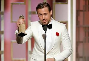 """Ryan Gosling venceu na categoria melhor ator por """"La la land"""" Foto: HANDOUT / REUTERS"""