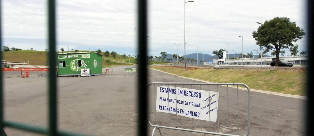 O Parque de Deodoro está fechado Foto: Fábio Guimarães / Agência O Globo