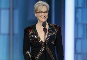 Meryl Streep foi homenageada na premiação Foto: Paul Drinkwater / AP