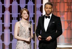 Os atores Emma Stone e Ryan Reynolds Foto: HANDOUT / REUTERS