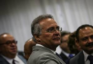 O senador Renan Calheiros (PMDB-AL) Foto: André Coelho/Agência O Globo/15-12-2016