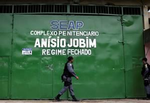Segurança é reforçada após rebelião no presídio Anísio Jobim, em Manaus (AM) Foto: UESLEI MARCELINO / Reuters