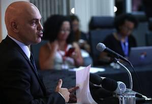 O ministro da Justiça, Alexandre de Moraes Foto: Jorge William / Agência O Globo