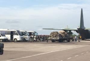 Agentes da Força Nacional chegam a Manaus Foto: Alírio Lucas