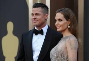 Brad Pitt e Angelina Jolie em março de 2014 Foto: ROBYN BECK / AFP