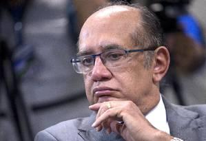 Gilmar rejeitou a ideia de consultar a população via plebiscito sobre a reforma política Foto: Jorge William / O Globo