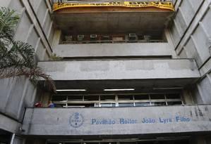 Uerj: reitor diz que universidade vem sendo sucateada Foto: Domingos Peixoto / Agência O Globo