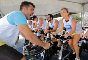 Suor. Spinning é um tipo de exercício físico considerado intenso, ajudando, portanto, a melhorar taxas de glicose e de colesterol, por exemplo Foto: Reginaldo Pimenta/23.10.2016