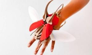 Marca holandesa cria besouros de papelão montáveis Foto: Divulgação