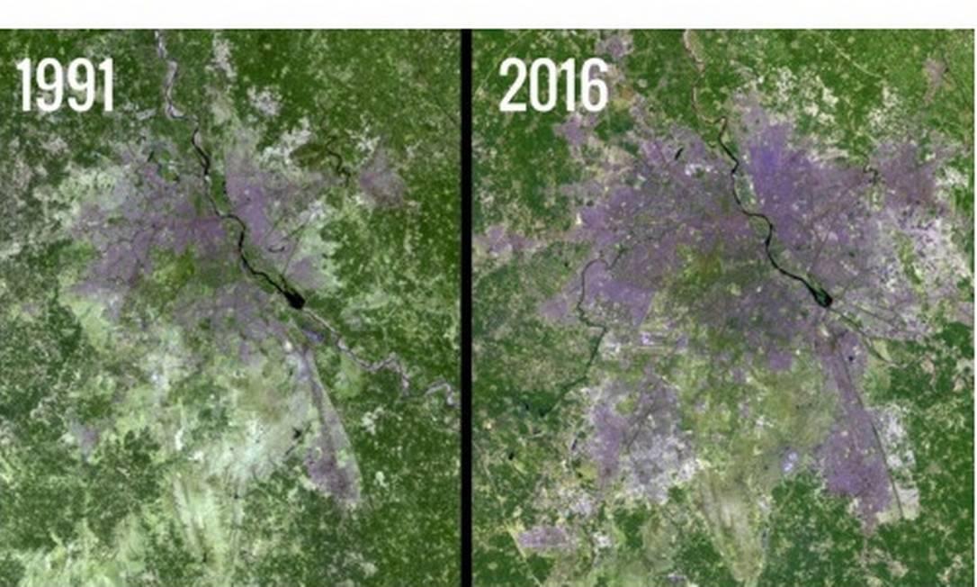 Nasa divulga imagens que mostram mudanças drásticas no planeta
