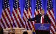 Trump em sua primeira coletiva: resposta sobre dossiê
