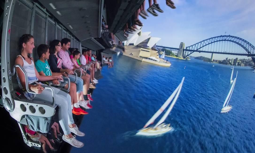 """O simulador Soarin' Around the World oferece um """"voo sensorial"""" no Epcot Foto: David Roark / Walt Disney World / Divulgação"""