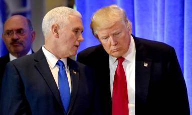 Trump e seu vice, Mike Pence Foto: TIMOTHY A. CLARY / AFP