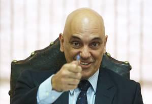 O Ministro da Justiça, Alexandre de Moraes Foto: Ailton de Freitas / Agência O Globo