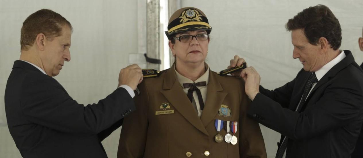 Cerimônia de posse da comandante-geral da Guarda Municipal, Tatiana Mendes Foto: Gabriel de Paiva / Agência O Globo