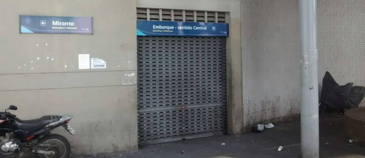 Estação Américo Brum. Moradores do Morro da Providência reclamam do fechamento do teleférico Foto: Divulgação