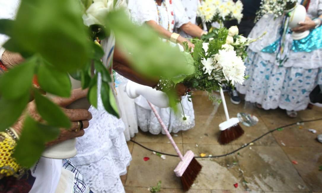 O cortejo da Lavagem do Bonfim aconteceu nesta quinta-feira, em Salvador Amanda Oliveira / GOVBA