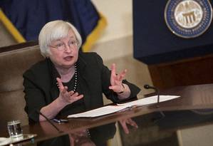Janet Yellen, presidente do Federal Reserve. Crédito: Aaron P. Bernstein/Getty Images/AFP Foto: Aaron P. Bernstein / AFP