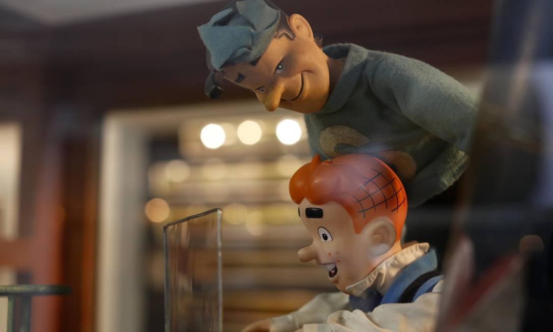 """Os bonecos Archie e Jughead, da história em quadrinhos """"A turma do Archie"""". """"Nossa intenção sempre foi compartilhar a coleção para que as pessoas desfrutem e revivam suas memórias de infância, para entrar naquele túnel de tempo"""", diz o filho do fundador, Roberto. Foto: Dario Lopez-Mills / AP"""