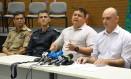 Os secretários de Justiça e de Segurança Pública (blusa listrada) do Rio Grande do Norte Foto: Divulgação