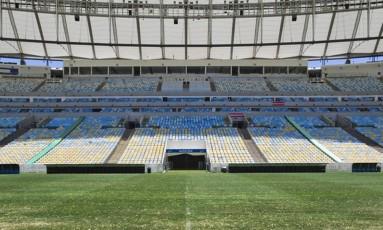 O estádio do Maracanã: prejuízo de R$ 147 milhões Foto: Guito Moreto
