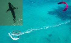 Kitesurfista Isabelle Fabre quase foi atacada por tubarão na Austrália Foto: Reprodução de vídeo