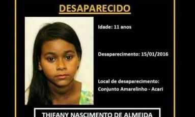 Polícia faz buscas para localizar a criança Foto: Divulgação/Polícia Civil