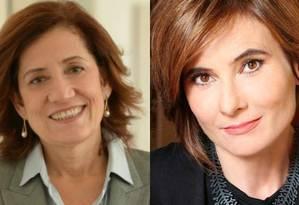 As jornalistas Miriam Leitão e Eliane Brum Foto: Montagem sobre fotos de divulgação e de reprodução do Twitter