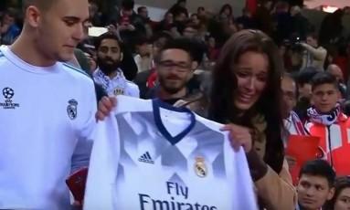Fã de Sergio Ramos se emociona Foto: Reprodução