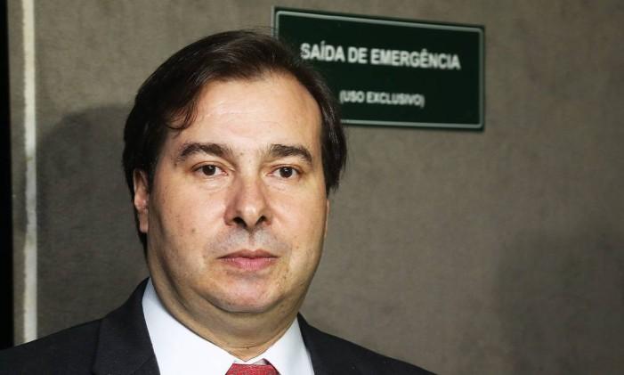 O presidente da Câmara dos Deputados, Rodrigo Maia (DEM-RJ) Foto: Ailton de Freitas / O Globo / 5-1-2017