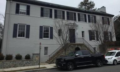 A casa da 'primeira-filha'. A futura residência de Ivanka Trump fica na Tracy Place Street, quase vizinha à da família Obama Foto: Fotos de Henrique Gomes Batista