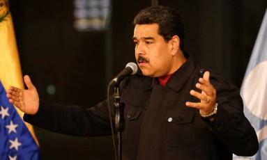 Maduro defende Trump em coletiva em Caracas Foto: MARCO BELLO / REUTERS