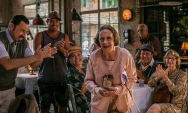 Laura Cardoso ganhou uma cena especial para celebrar a volta da sua personagem à trama Foto: Divulgação