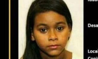 Menina desapareceu no último domingo Foto: Divulgação
