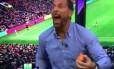 Rio Ferdinand comemora gol do Manchester United sobre o Liverpool Foto: Reprodução de vídeo