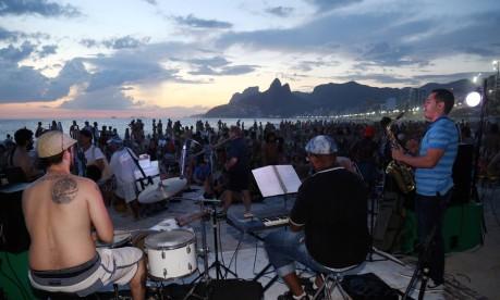 ArpoaJahzz reúne bandas de jazz no icônico lugar da zona sul carioca Foto: Marcos Ramos / Agência O Globo