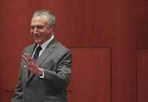 O presidente Michel Temer participa de lançamento do programa Empreender Mais Simples, no Sebrae Foto: Ailton Freitas / Agência O Globo