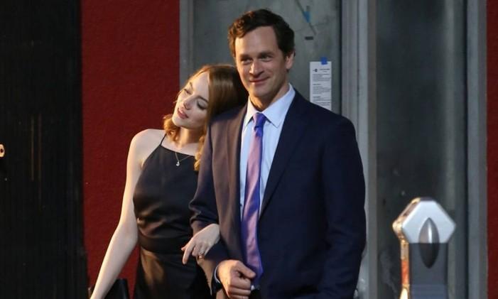 Emma Stone e Tom Everett Scott em cena de 'La la land' Foto: Reprodução