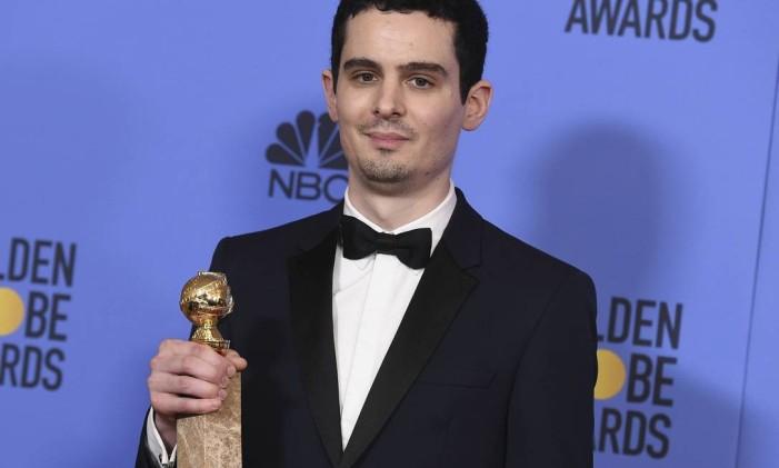 Damien Chazelle, de 'La la land', no Globo de Ouro Foto: Jordan Strauss / AP